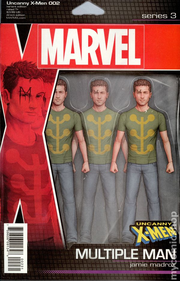 UNCANNY X-MEN #600 1ST PRINTING CHRISTOPHER ACTION FIGURE VARIANT COVER A 2015