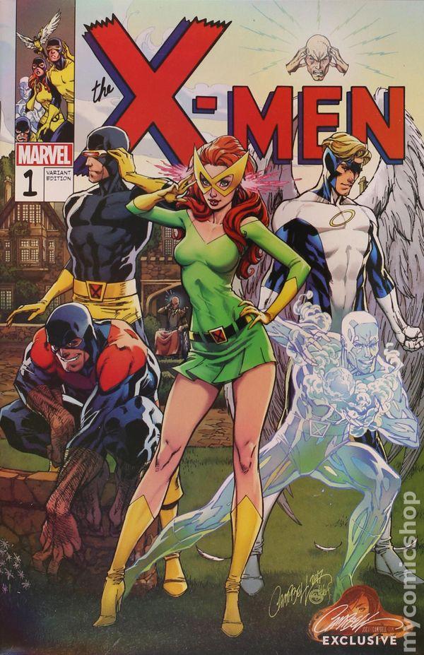 X-MEN BLUE 1 J SCOTT CAMPBELL C RETRO VIRGIN VARIANT COVER NM SOLD OUT