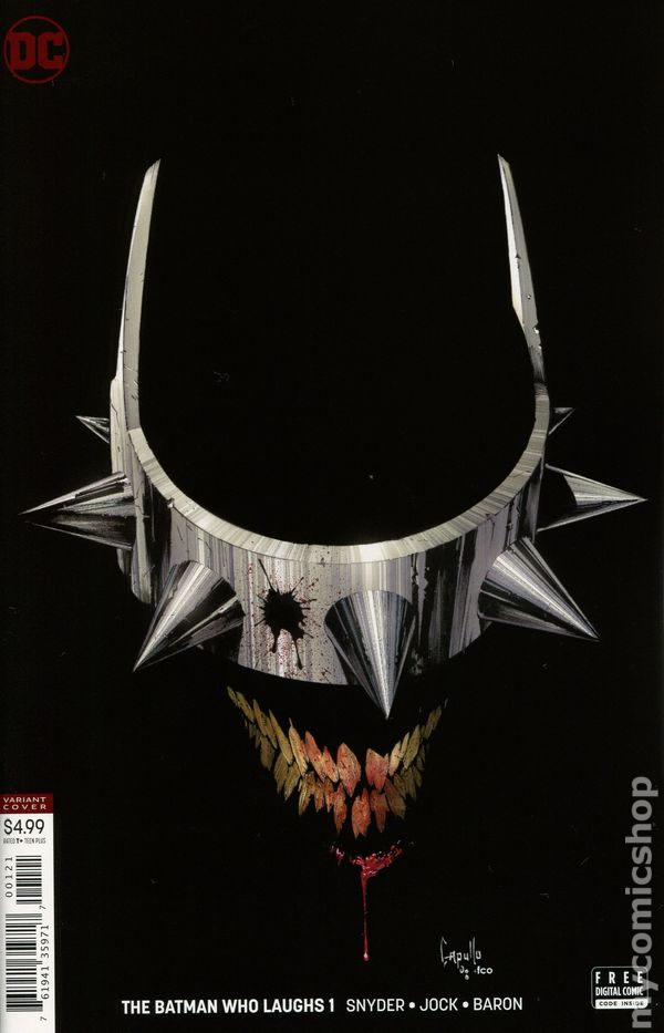 BATMAN WHO LAUGHS #1 BILL SIENKIEWICZ MIDTOWN VARIANT JOKER COMIC BOOK NM 2018