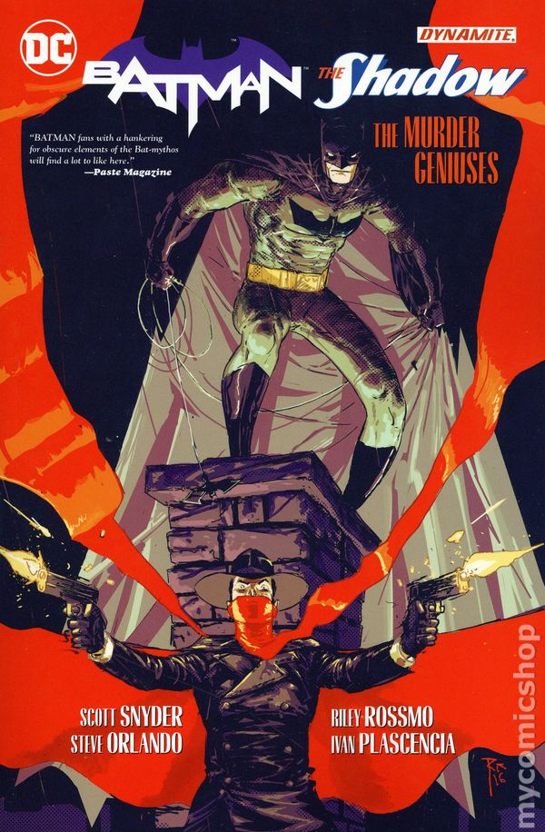 The Shadow Batman #2 Variant Dynamite  D.C Comics CB12968