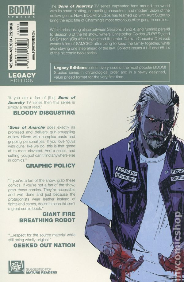 SONS OF ANARCHY #1 GEMMA PORTRAIT EXCLUSIVE VARIANT SOA BOOM STUDIOS NM//VF