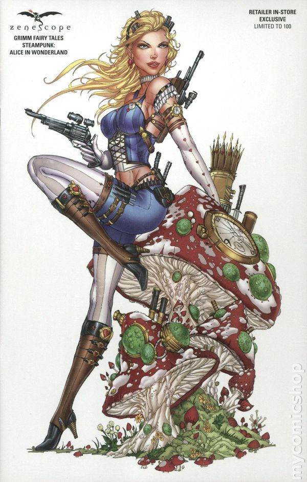 Steampunk Alice In Wonderland (2016 Zenescope) comic books
