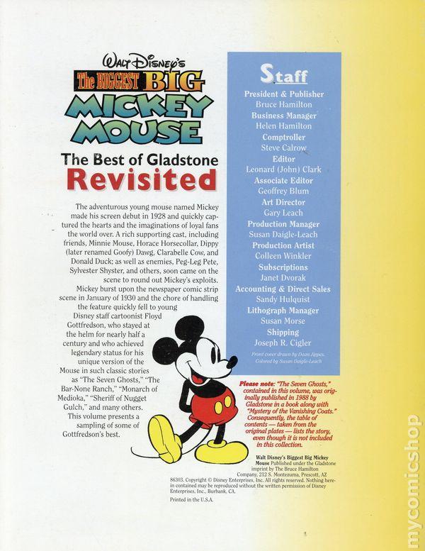 ea0e77649ad ... Walt Disney s The Biggest Big Mickey Mouse TPB (1998 Gladstone) 1-1ST