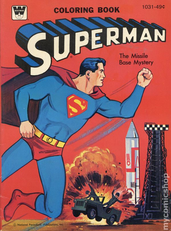 Superman Coloring Book SC (1965-1980 Whitman) comic books