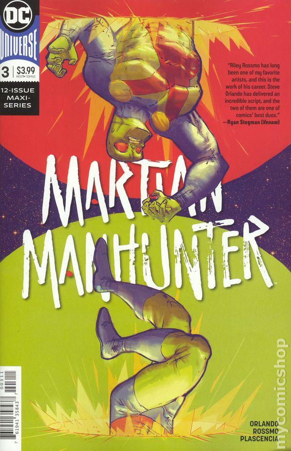 2018 #1 1ST PRINT BLANK /& VARIANT 3 COVER SET NM MARTIAN MANHUNTER