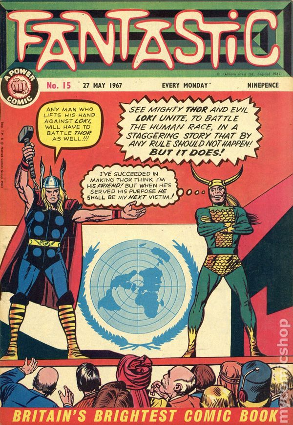 Comic books in 'Created outside the U S '