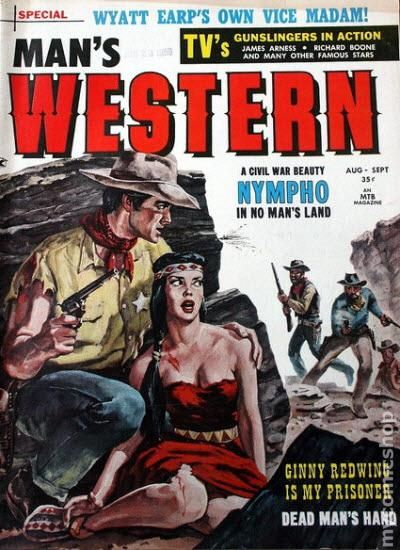 Man's Western (1958-1959 MTB Publications) Pulp comic books