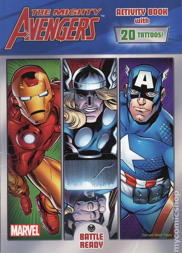 Activity Books Avengers Color by Number 48 Pages