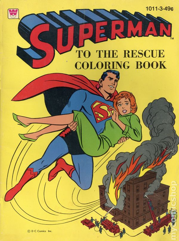 Superman to the Rescue SC (1964 Whitman) A Coloring Book 1011-3 VG