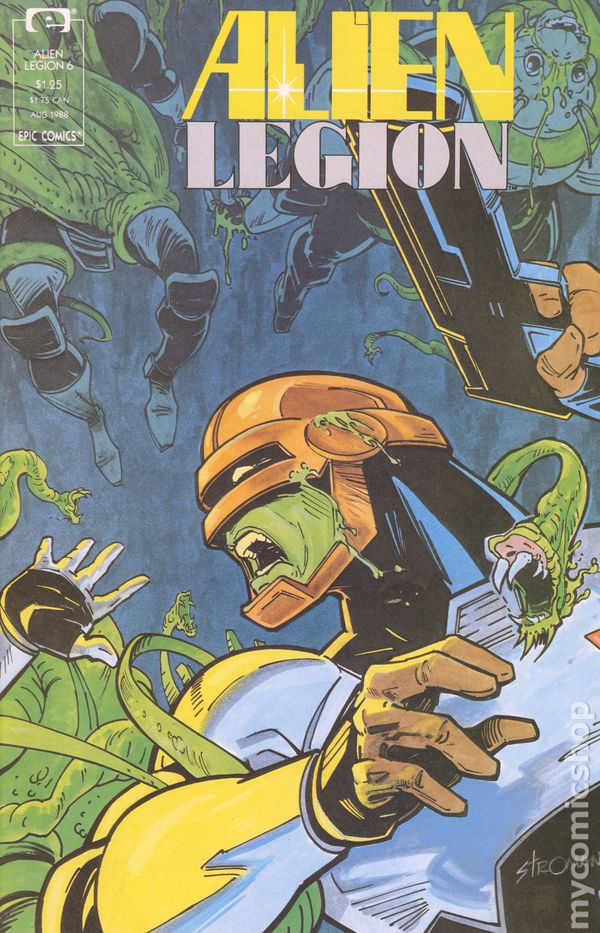 Vol.2 No.4 1988 Signed by Carl Potts with Certificate Alien Legion