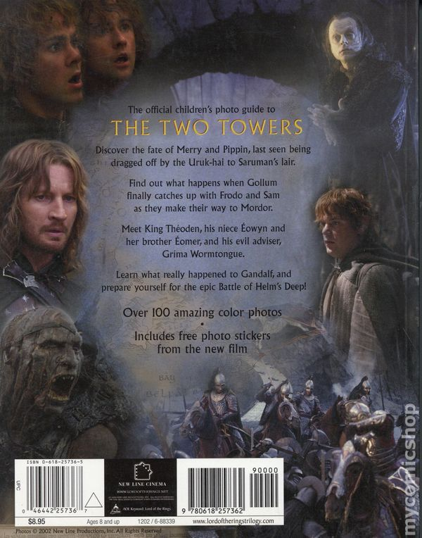 Lord Of The Rings The Two Towers Photo Guide Sc 2002 Houghton Mifflin Comic Books