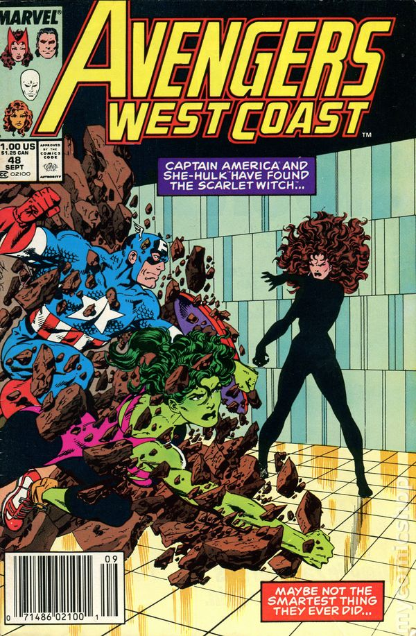 Avengers West Coast (1985) Mark Jewelers comic books