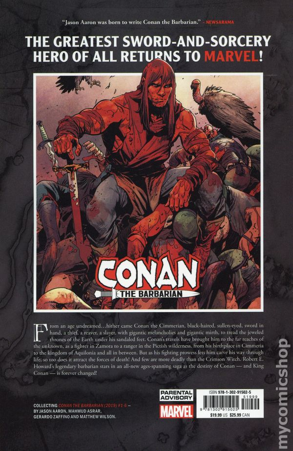 Conan the Barbarian TPB (2019 Marvel) 1-1ST NM