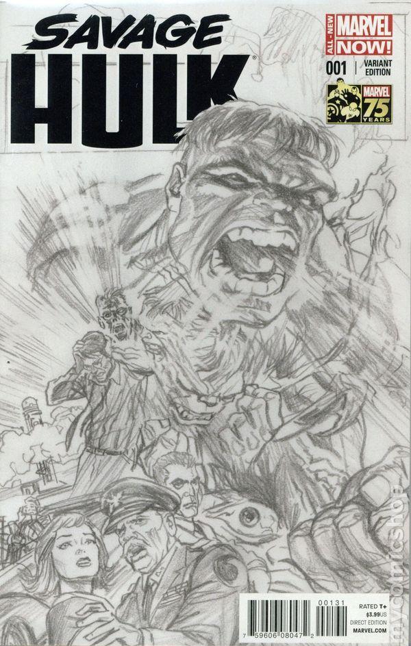 2014 Gabe Hardman /& Corinna Bechko Savage Hulk No.5