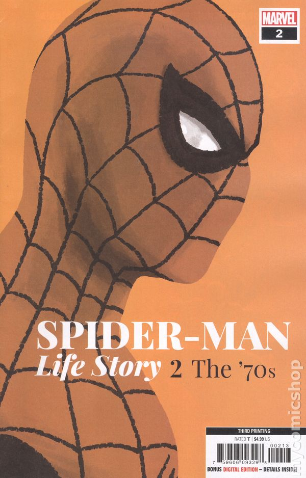 SPIDER-MAN LIFE STORY #1 SKOTTIE YOUNG VARIANT COVER 1960/'S MARVEL COMIC BOOK
