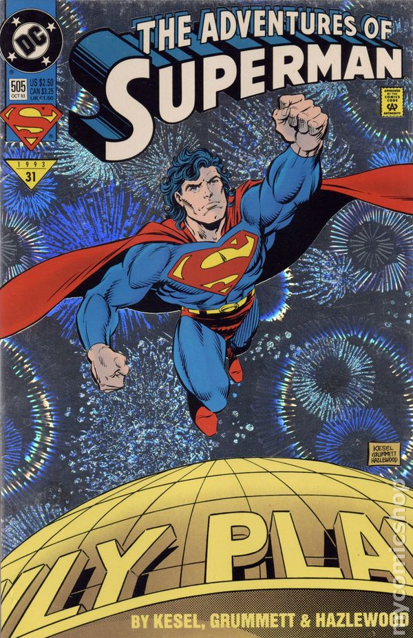 Adventures of Superman 1987 series # 533 near mint comic book