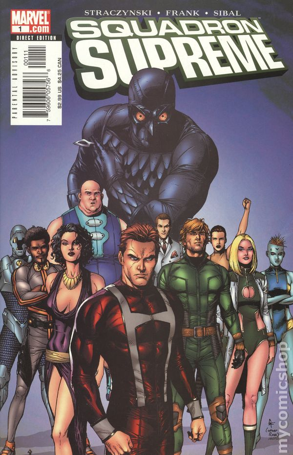 Squadron Supreme #1 Marvel Namor Dr Spectrum Hyperion Zarda Blur Nighthawk VF