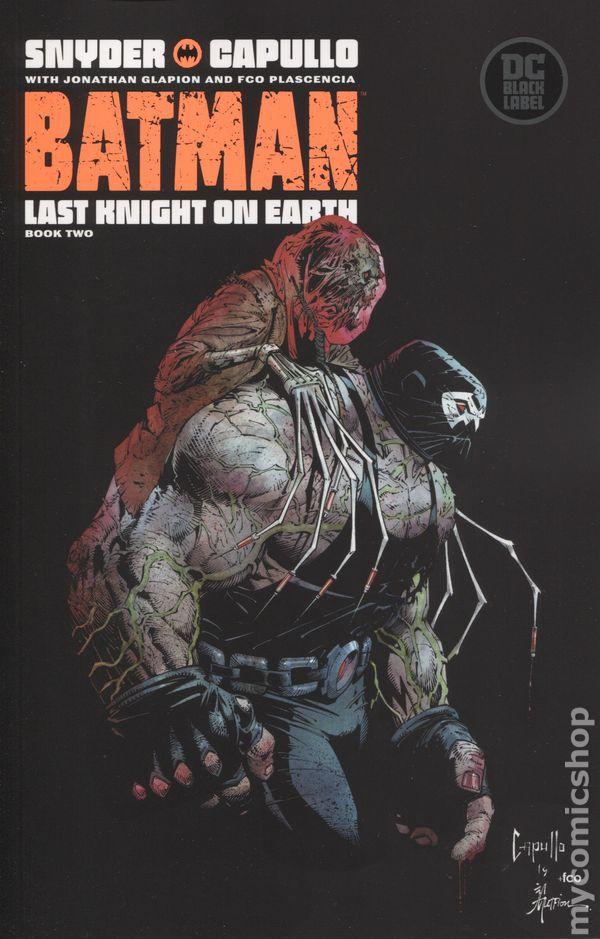 Batman Last Knight On Earth # 1 Jock Variant Cover  DC Black Label