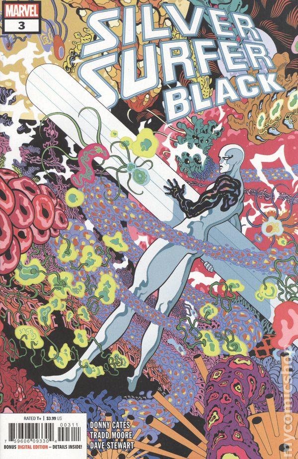 Blank Sketch Variant Marvel #1 Cates//Moore NM Silver Surfer Black 2019