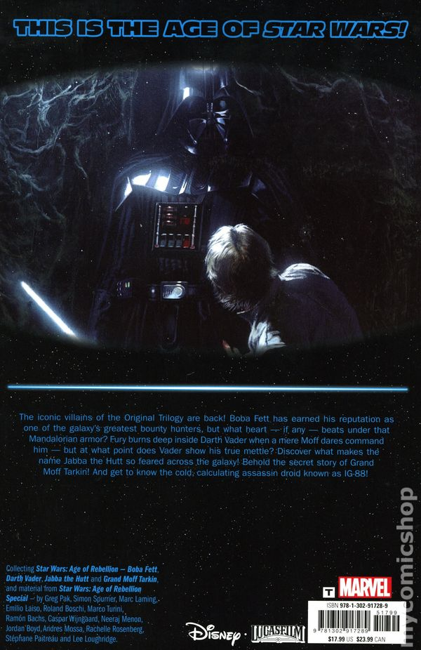 Star Wars Age of Rebellion Darth Vader #1 VF Pak//Bachs 2019 Marvel