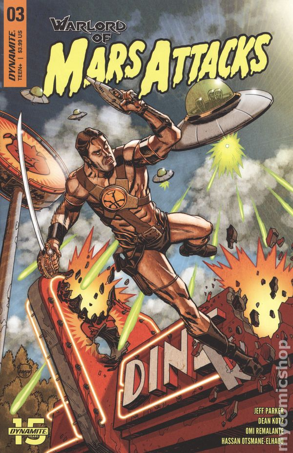Mars Attacks #3 Cover B NM 2018 Dynamite Vault 35