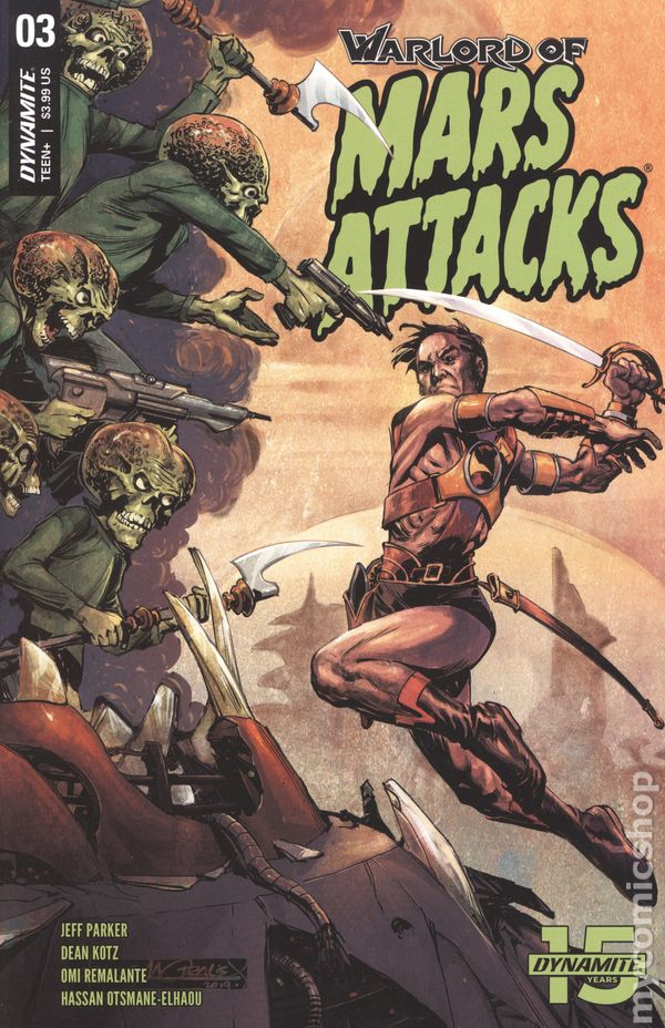 Vault 35 Warlord of Mars Attacks #3 Cover D NM 2019 Dynamite