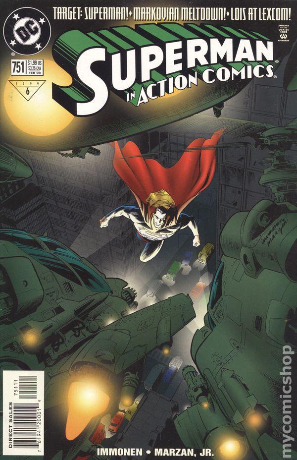 Superman Mark Millar /& Stuart Immonen Action Comics No.753 1999 JLA vs