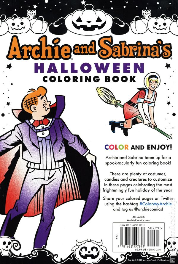 Archie and Sabrina\'s Halloween Coloring Book SC (2019 Archie) 1-1ST NM