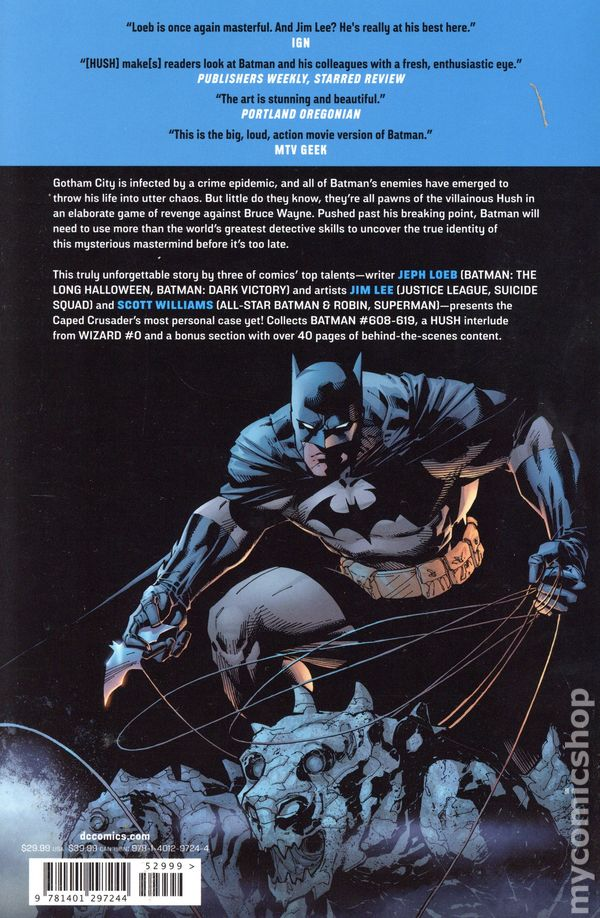 Batman Hush Tpb 2019 Dc New Edition Comic Books