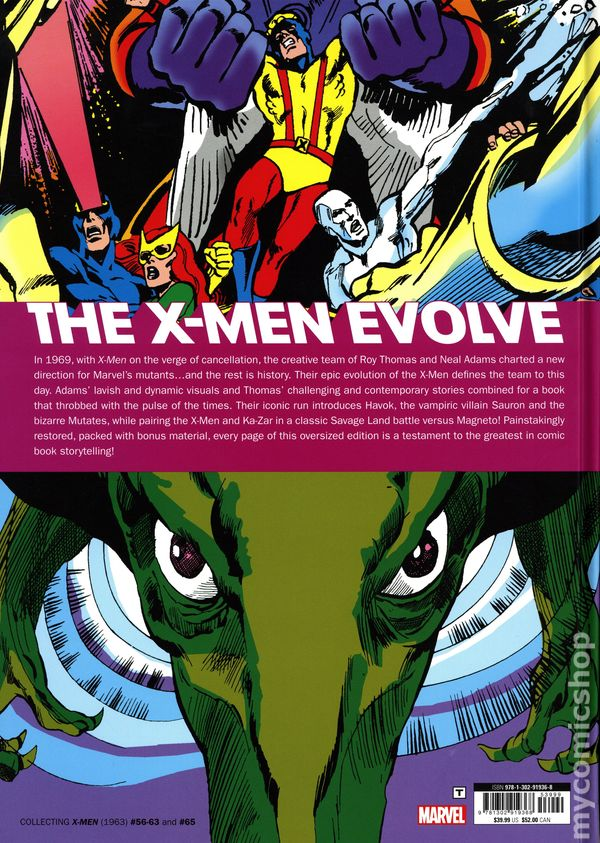 X-Men HC By Roy Thomas and Neal Adams Gallery Edition #1-1ST NM 2019 Stock Image