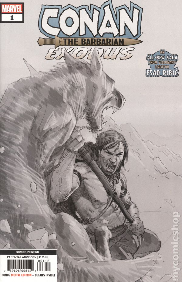 CONAN THE BARBARIAN EXODUS #1 BOBG BRADSHAW VARIANT 1ST PRINT MARVEL COMICS NM