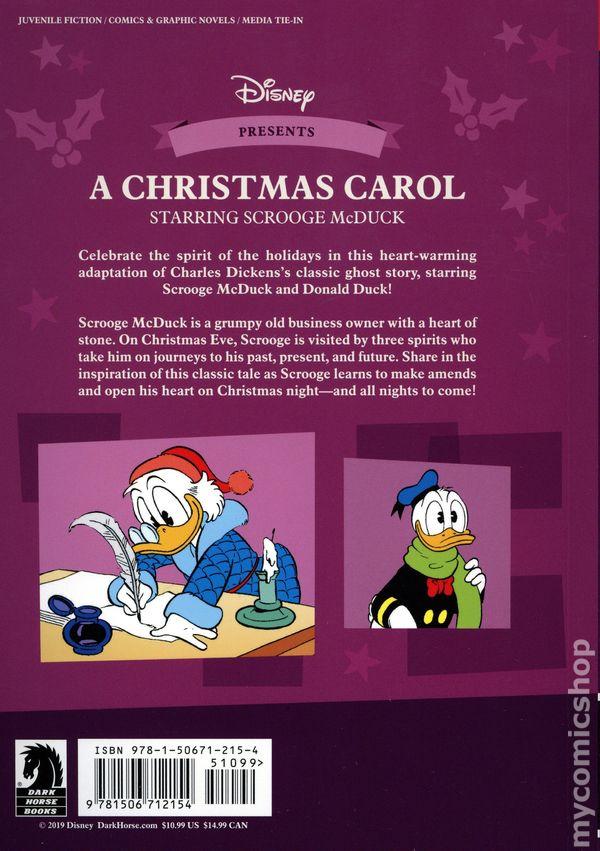 Christmas Carol Scrooge Mcduck.A Christmas Carol Starring Scrooge Mcduck Gn 2019 Dark Horse Disney Comics 1 1st Nm