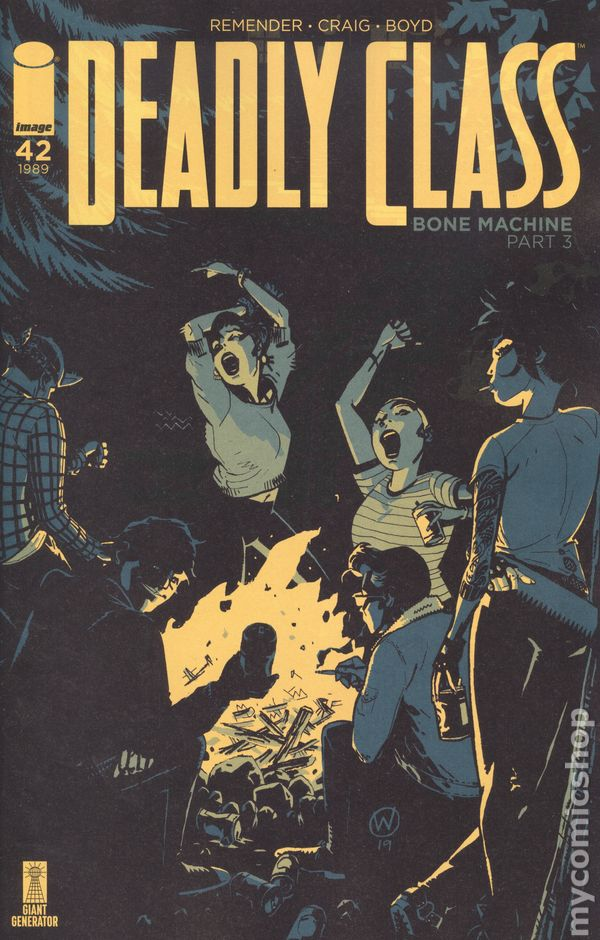 Deadly Class #41B Fuso Variant NM 2019 Stock Image