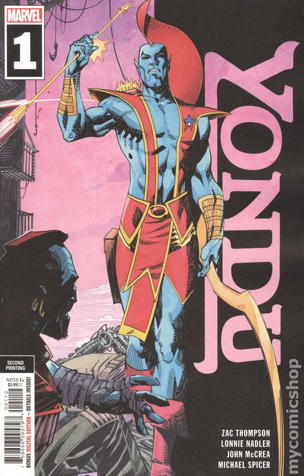 Marvel Comics 2019 Yondu #1 variant cover Guardians of the Galaxy