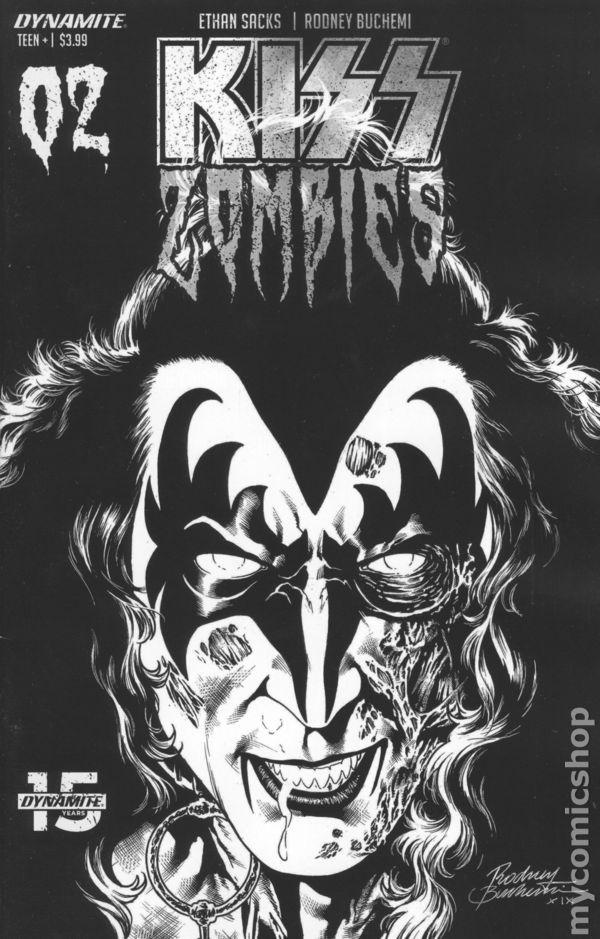 KISS ZOMBIES #1 1:7 COPY HAESER DYNAMITE EB94 11//06//2019