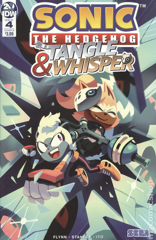 Sonic The Hedgehog Tangle And Whisper 2019 Idw Comic Books