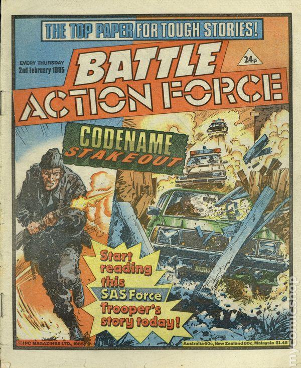 Date 03//12//1983 UK Paper Comic BATTLE ACTION FORCE Comic