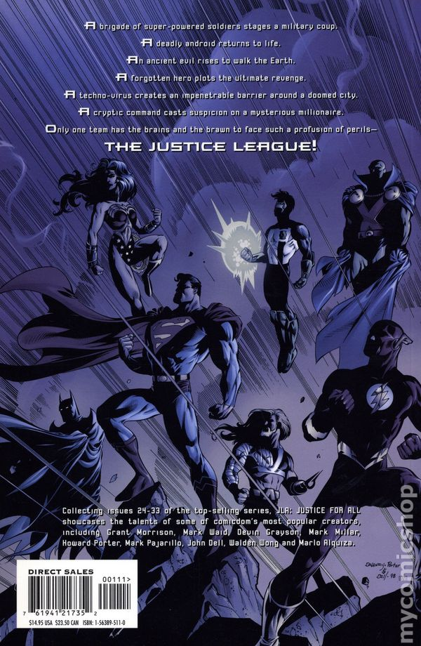 """JLA  80,81,82,/""""The WHITE RAGE/"""" COMPLETE 3 ISSUE STORY.1997 JUSTICE LEAGUE SERIES"""