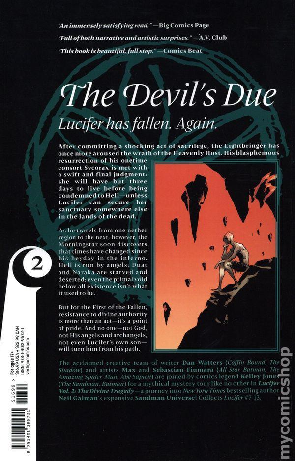 DC Vertigo Sandman Universe LUCIFER #4 first printing