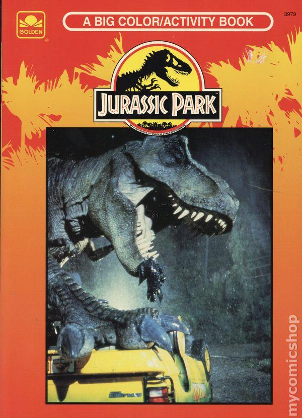 Jurassic Park Big Coloring/Activity Book SC (1993 Golden Books) Comic Books