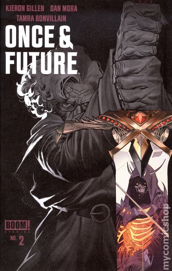 Once and Future #9B Mora Variant 2nd Printing VF 2020 Stock Image
