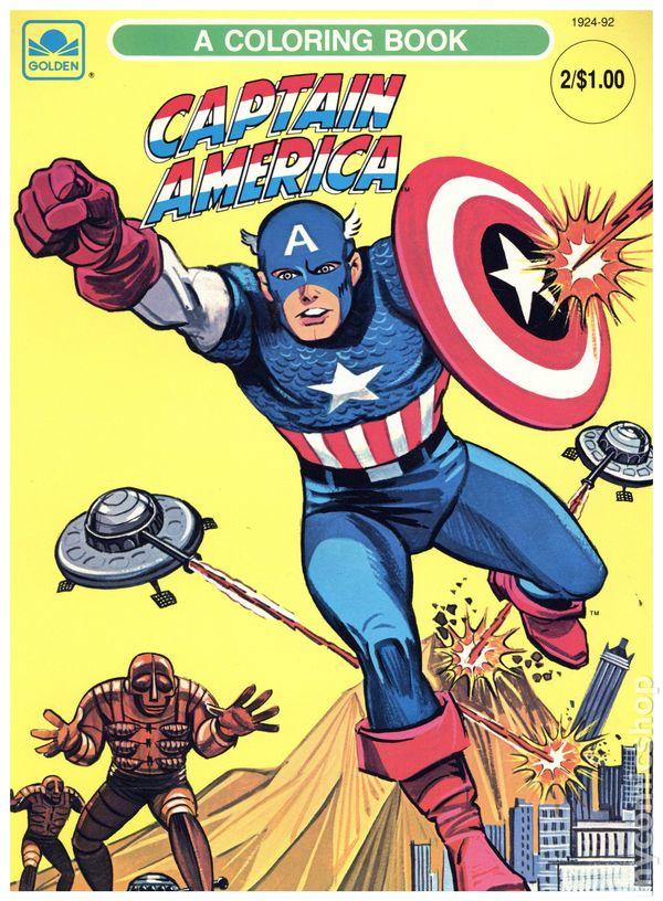 Captain America Coloring Book SC (1966 Whitman) Comic Books