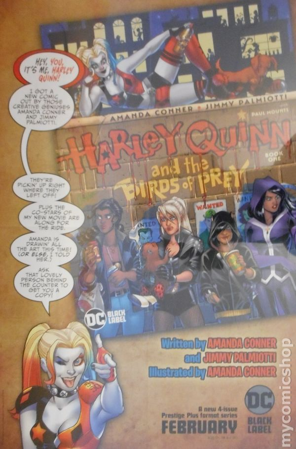 Harley Quinn And The Birds Of Prey Poster 2020 Dc Art By Amanda Conner Comic Books 2020