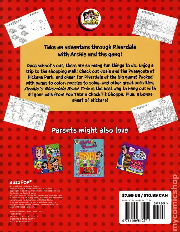 Archie S Riverdale Road Trip Coloring And Activity Book Sc 2020 Little Bee Books Comic Books