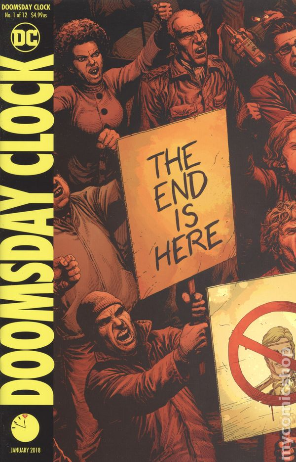 DOOMSDAY CLOCK 1 LENTICULAR VARIANT NM WATCHMEN SIGNED by WRITER GEOFF JOHNS