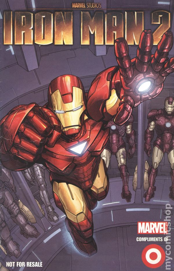 Iron Man 2 2010 Marvel Target Exclusive Comic Books