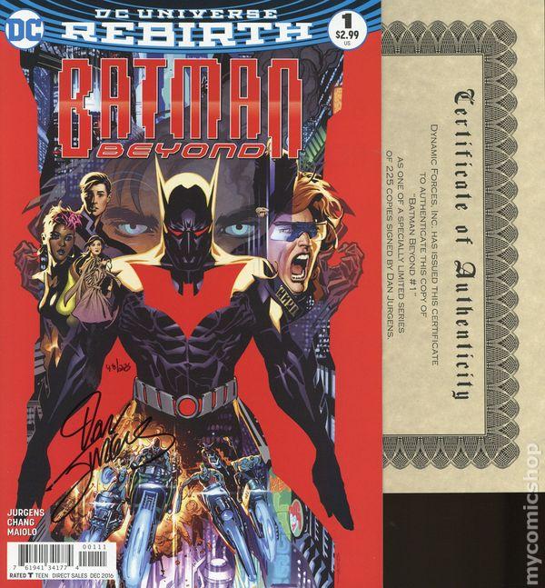 Jurgens//Chang NM DC #1 2015 Batman Beyond