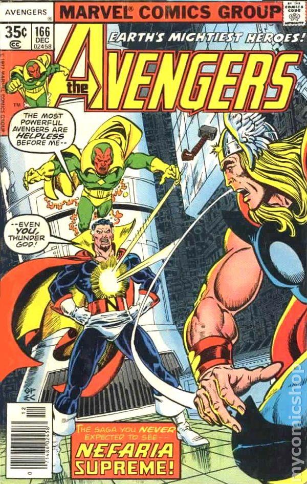 Avengers comic books issue 166