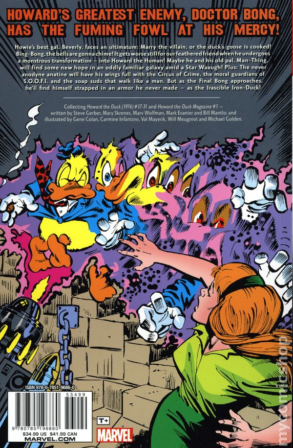 HOWARD THE DUCK COMPLETE COLLECTION VOLUME 2 GRAPHIC NOVEL 360 Pages Paperback