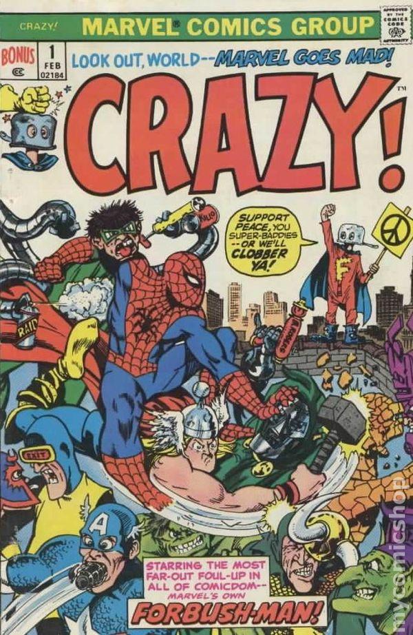Crazy 1973 Marvel Comics Comic Books